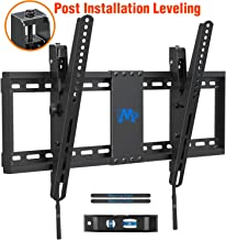 """$27 Get Mounting Dream TV Wall Mount with Post Installation Leveling for Most 37-70"""" Flat-Panel TVs, Tilting TV Mount up to 132lbs, VESA 600x400mm, Low Profile TV Wall Mount Bracket Fits 16""""- 24"""" Wood Studs"""