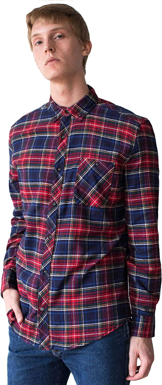 80s 90s Red Plaid Shirt Men/'s XL Vintage Unisex Lumberjack Button Up Top