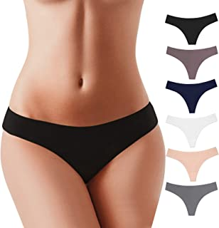 BUBBLELIME XS-XXL Sport Thong Panties Women Low Rise Sexy G-String No Show Bonded Breathable Underwear (6 Pack&3 Pack&1 Pack)