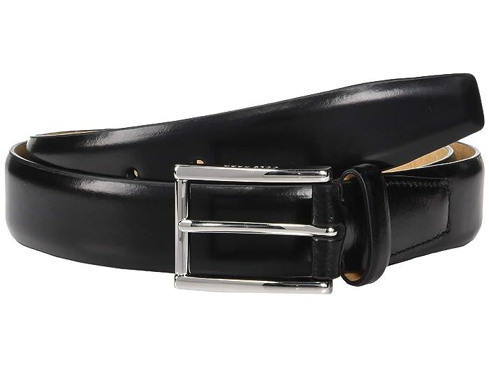 Cole Haan 32 mm Spazzolato Leather Belt (Black) Men