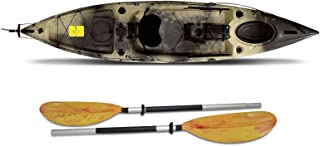 Fishing Kayaks Escape Angler Sit-On-Top Flat water ocean with paddle 12' ft Camo
