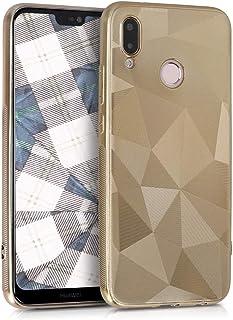 kwmobile Funda Compatible con Huawei P20 Lite - Carcasa de TPU Prisma en Dorado