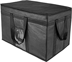 Yalin XXL-Larger Insulated Cooler Bags with Zipper Closure,Reusable Grocery Shopping Bags Keep Food Hot or Cold,Collapsibl...