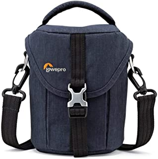Lowepro Protective;Durable;Retro Scout SH100 Shoulder Bag for Mirrorless Camera, Blue Denim, (LP36930-0WW)