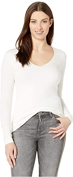 818dfc42b1b8 Three Dots. Supima Jersey V-Neck Tee. $51.24MSRP: $84.00. Winter White. 4