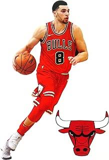 FATHEAD Zach LaVine Mini Graphic + Chicago Bulls Logo Official NBA Vinyl Wall Graphics - This Graphic is 7