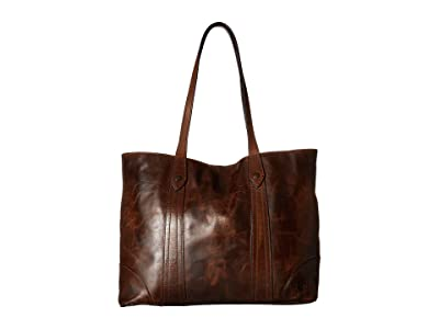 Frye Melissa Shopper (Dark Brown Antique Pull Up) Hobo Handbags