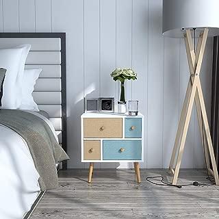 pine 4 drawer bedside cabinet