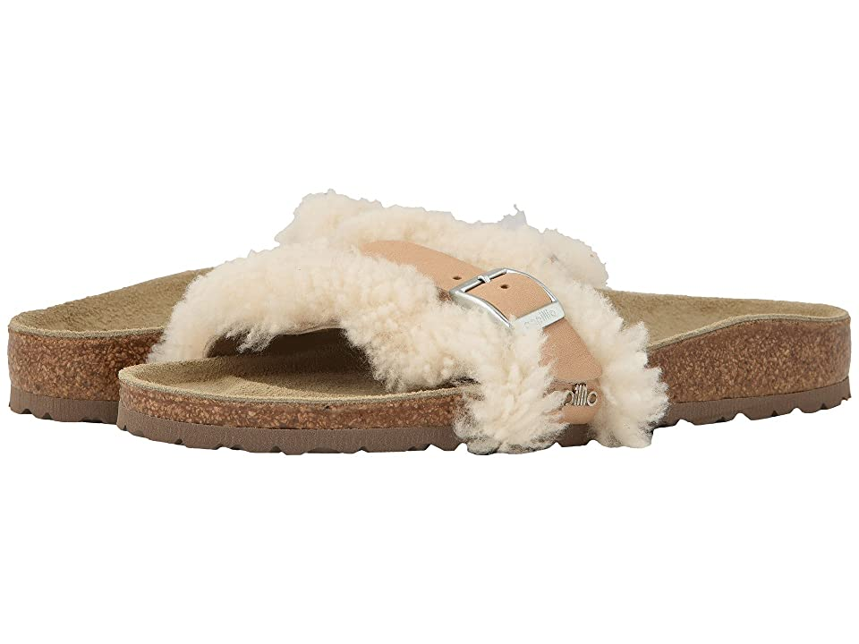 Birkenstock Carmen (Off-White Shearling/Leather) Women