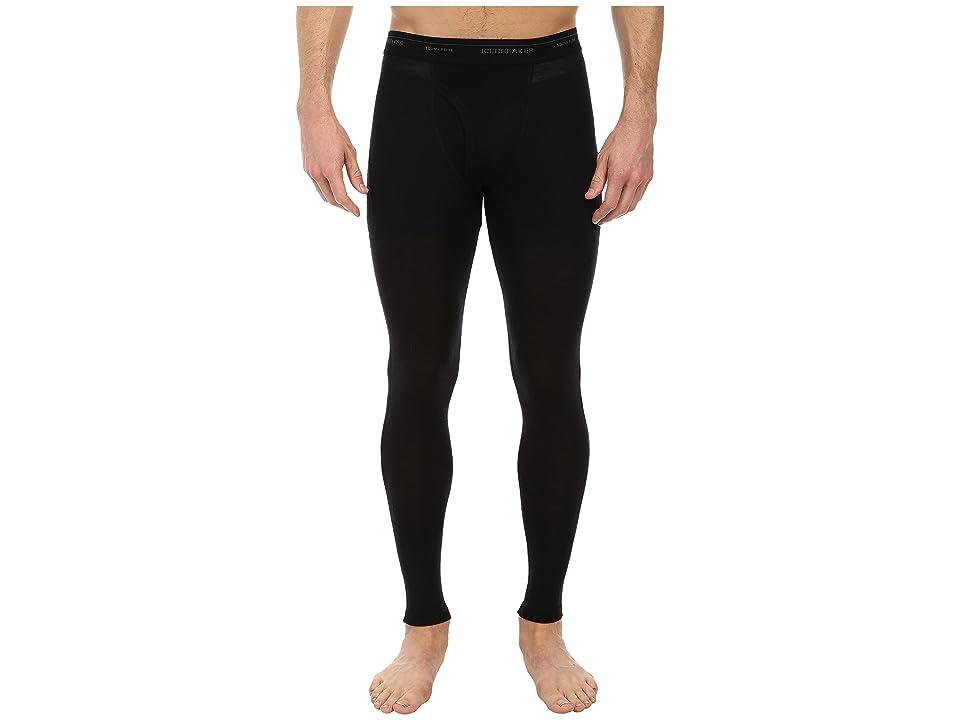 Icebreaker Everyday Light Weight Merino Leggings w Fly (Black) Men