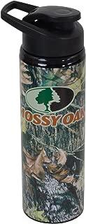 Silver Buffalo OK0189ST Mossy Oak Logo with Pine Branch Stainless Water Bottle, 25-Ounces