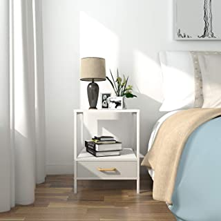 small bedside table white