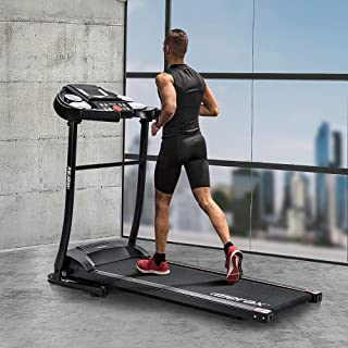 LENTIA Treadmill Folding Electric Treadmill Motorized Running Jogging Machine with LED Display Shock Absorption 264 LB Max Weight and Folding Running Belt for Home Use