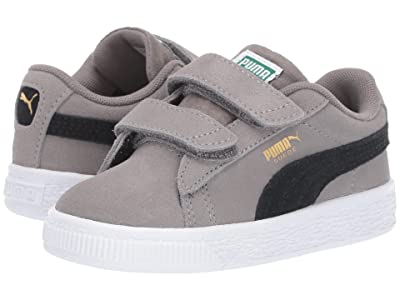 Puma Kids Suede Classic V (Toddler) (Charcoal Gray/Puma Black) Boys Shoes