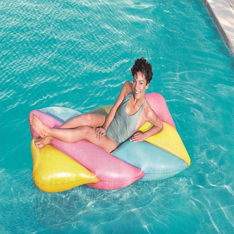 LX inflatable toys 31l Sommer Candy Farbe Marshmallow Schwimmende Reihe Aufblasbare Spielzeuge, Float Ring Player Eiskübel Schwimmring Liege Schwimmendes Bett, Geeignet Für Pool-Party - 190  105cm A