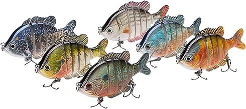 Bassdash SwimPanfish Multi Jointed Panfish Bluegill Swimbaits Hard Topwater Bass Lures Fishing Lure Crank Saltwater 3.5in/0.85oz