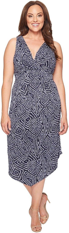 Karen Kane Plus Womens Plus Size Asymmetric Maxi Dress