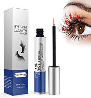 Eyelashes Growth Serum, Natural Brow Lash Enhancer, Eyelash and Eyebrow Enhancer Serum for Long and Boost Rapid Growth for Any Kind of Lash and Brow, Thick Lashes and Eyebrows (0.17 Ounce)