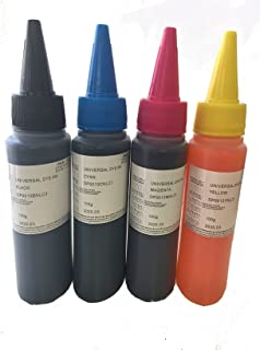 400ml Dye Refill Ink for HP 920 920XL (non-OEM) CIS/CISS and refillable cartridges. Officejet 6500 6500A 6000 7000 7500 7500A E709a E710a Printers, - Black, Cyan, Magenta, Yellow