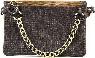 Brown MK Signature Fanny Pack Belt Bag Large