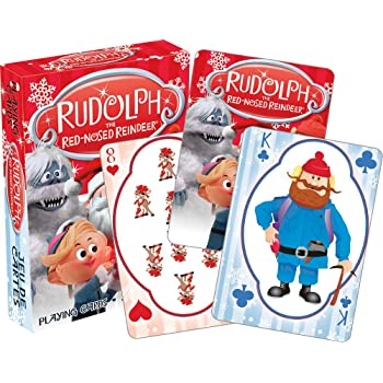 """Aquarius Rudolph The Red Nose Reindeer Playing Cards,Multi-colored,8"""""""