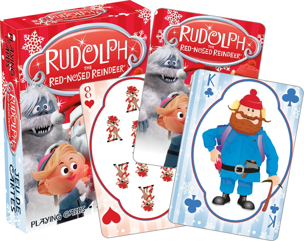 Image of Holiday Fun Rudolph The Red Nosed Reindeer Christmas Playing Cards