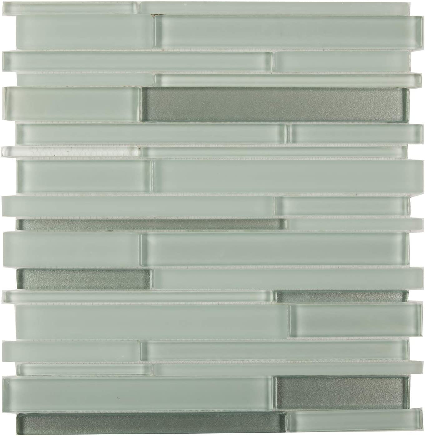 GTM 005 Mixed Strips Glass Mosaic Tile,Simply Color Collection 12-1//2X12 Box of 5 Sheets Key West