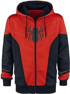 Veste Spider-Man Tenue Rouge et Noire avec Capuche Marvel Rouge Noir
