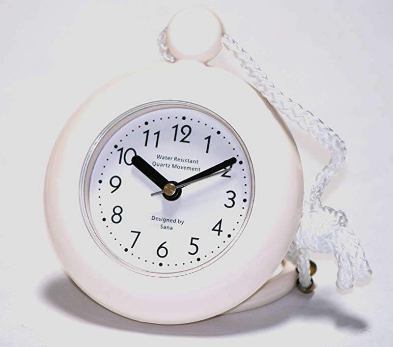 Our White Bathroom Shower Rope Clock With A Clear Easy To Read Clock Face Is Water Resistant And Engineered With A Superior Quartz Movement And Turning Second Hand For Accurate Timekeeping