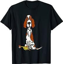 Smileteespetsa Funny English Setter Dog with Rubber Chicken T-Shirt