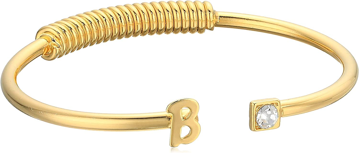 1928 Jewelry 14K Gold-Dipped Initial and Max 86% OFF Accent C- Inexpensive Clear Crystal