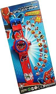DECORVAIZ Generic Digital 24 Images Spiderman Projector Watch for Kids(Unisex