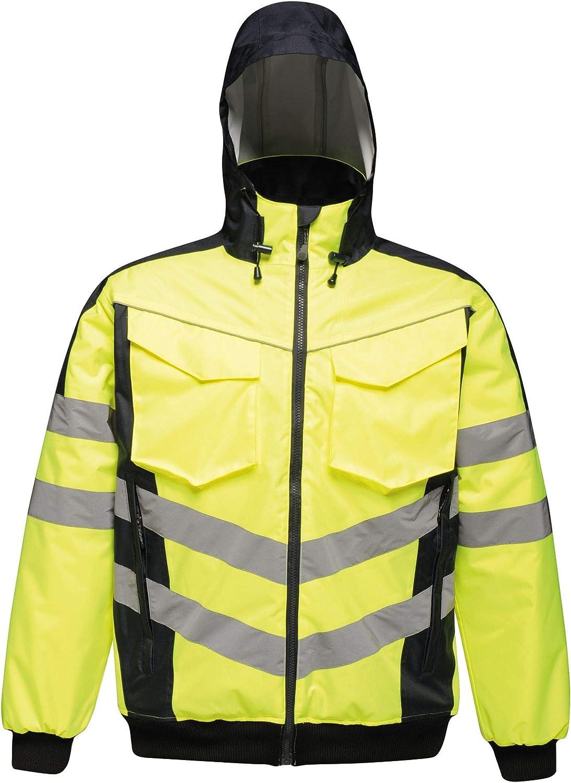 Regatta Mens Hi Vis Pro Jacket Reflective Bomber San Antonio Mall Cheap mail order specialty store