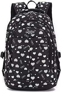 Goldwheat Girls School Bag Bookbag Backpack Outdoor Travel Bag for Elementary Middle School
