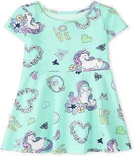 فستان كاجوال للفتيات بأكمام قصيرة بطيات من ذا كيدز بليس