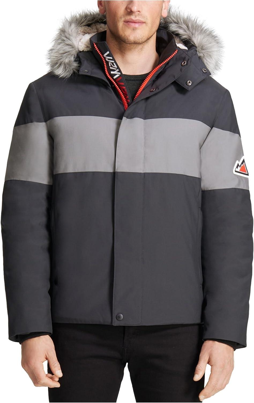 VRY WRM&trade Mens Polar Oxford Snorkel Coat, Black, X-Large