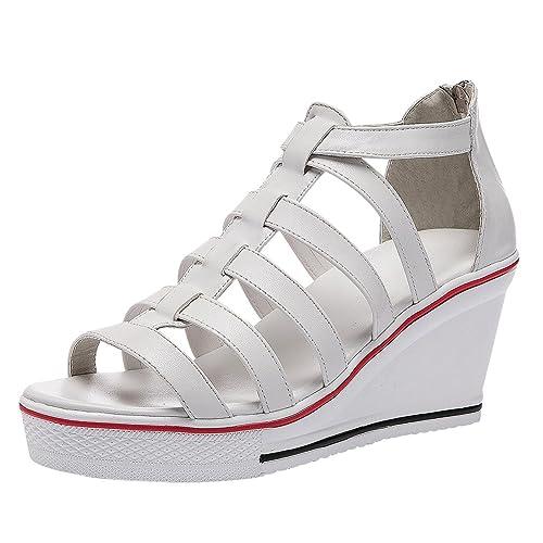 eeee33b8be5e1 Women's Wedge Heel Sneakers and Sandals: Amazon.com