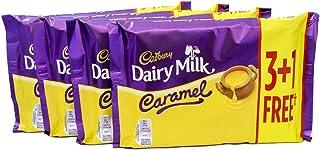 Cadbury Dairy Milk Caramel 148g 4 Pack (16 Bars in Total)