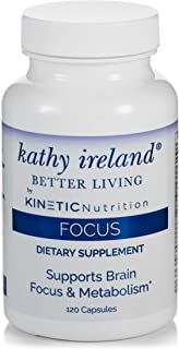 Kathy Ireland Brain Support and Focus Supplement with Pycnocgenol Pine Bark - Dr Formulated for Kids and Adults