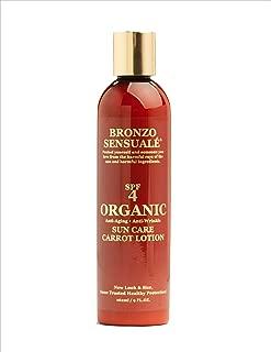 Bronzo Sensuale SPF 4 Sunscreen Deep Tanning Carrot Lotion 8.5 Ounces