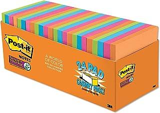 نوتات بوست إت سوبر ستيكي نوتس، ألوان ريو دي جينيرو، عبوة كبيرة، قابلة لإعادة التدوير، 8 سم × 7.62 سم، 24 ضفيرة/العبوة، 70 ...