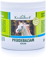 Kräuterhof- Bálsamo de caballo, enfría y revitaliza, extracto valioso de hierbas de castaño de Indias, árnica, romero y aceite de menta, bote sellado con lámina de aluminio
