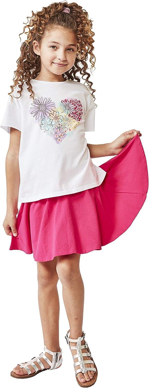 KIDPIK Fun & Flairy Skirt & Active Short Hybrid - Choose from Stripe Knit, Double Ruffles, Front Tie or Basic Skater Swing