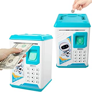 DOTSOG Electronic Piggy Bank ATM Password Money Box Cash Coins Saving Box Bank Safe Box Automatic Deposit Banknote Great Gift Toy for Kids