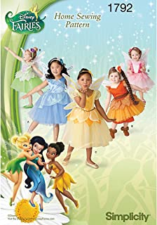 Simplicity 1792 Girl's Disney Fairies Costume Sewing Patterns, Sizes 4-8