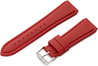 Hadley-Roma 22mm 'Men's' Silicone Watch Strap Color:red (Model: MS3346RQ 220)