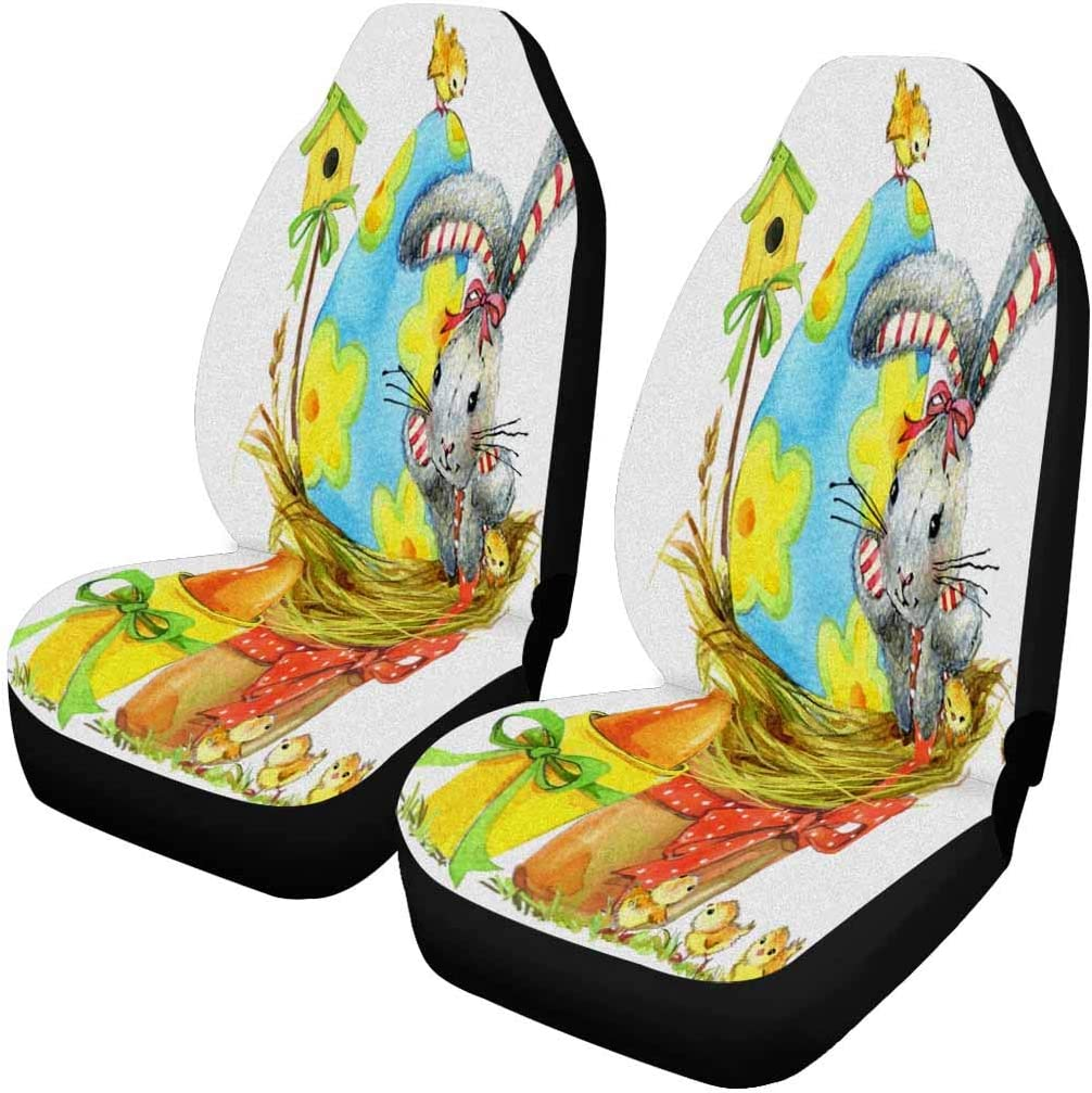 Sale SALE% OFF InterestPrint Easter Bunny Egg and Cover Spring Car Latest item Chicken Seat
