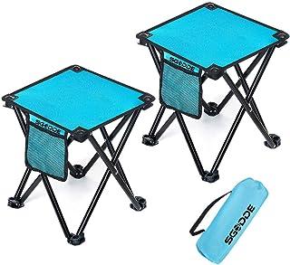 TAECOOOL Folding Stool Folding Stool Camping Lightweight for Outdoor Camping Fishing Barbecu Indoor Kitchen Maximum Load-bearing 158KG