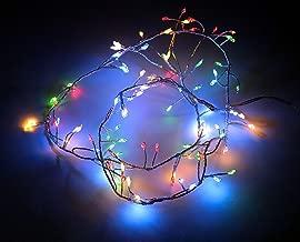 Lichterkette Led Batterie Twinkle Fairy 80 LED 8m Wasserdicht 16 Farben 4 Modelle Fade Strobe Batteriebetrieben mit Fernbedienung f/ür Indoor Outdoor Weihnachten Hochzeit Festival Party Wanddekoration