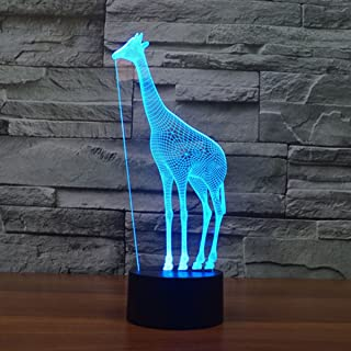 FZAI ZJB-Visual Light22 Lampes LED Illusions d'Optique 3D 7 Couleurs Changeantes Girafe